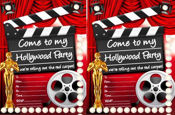 Movie themed Invitation Template Free Elegant Hollywood Party Ideas