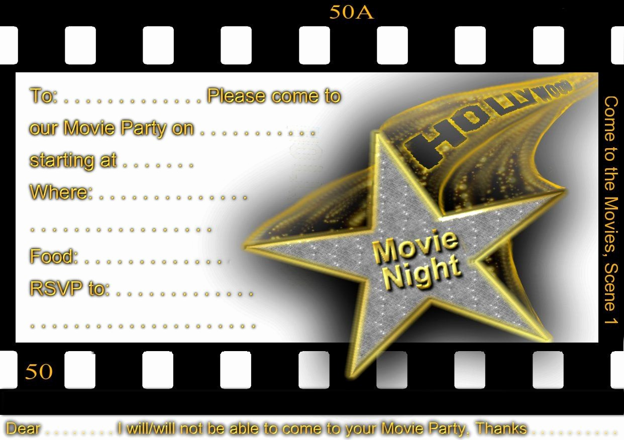 Movie themed Invitation Template Free Inspirational Free Printable Gratuation Movie themed Invitations