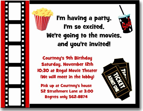 Movie themed Invitation Template Free Inspirational Hollywood themed Birthday Invitations for Sale Hollywood