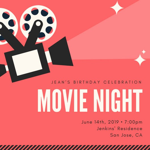 Movie themed Invitation Template Free Lovely Customize 646 Movie Night Invitation Templates Online Canva