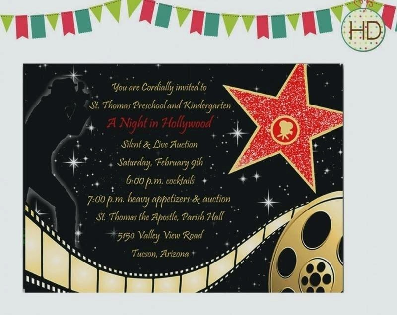 Movie themed Invitation Template Free Lovely Hollywood themed Invitation Template Cinema Birthday