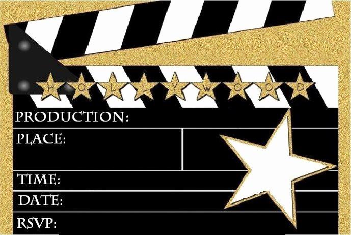 Movie themed Invitation Template Free Luxury Best 25 Hollywood Invitations Ideas On Pinterest