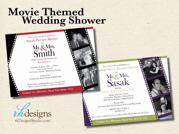 Movie themed Invitation Template Free New 26 Wedding Shower Invitation Templates – Free Sample