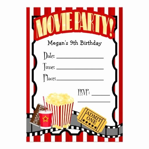 Movie themed Invitation Template Free New Blank Movie Ticket Invitation Template Free Download Aashe