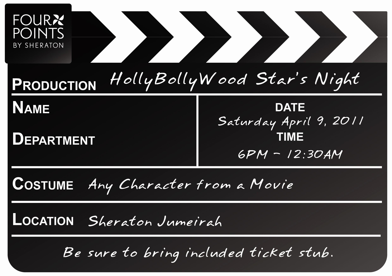 Movie themed Invitation Template Free New Movie Premiere Invitation Template Fwauk