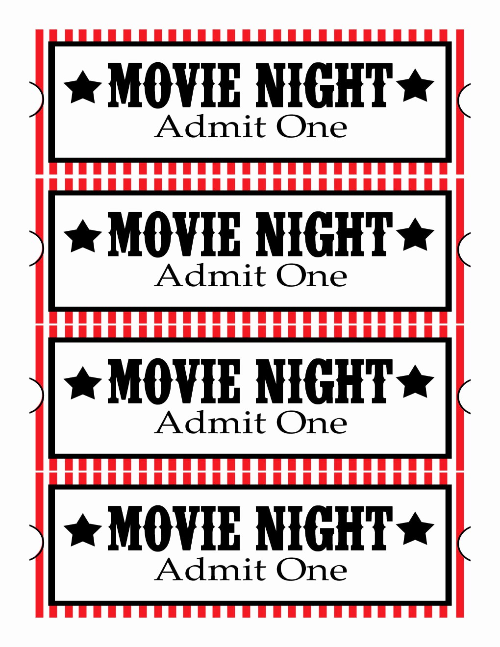 Movie Ticket Template Free Printable Awesome Sweet Daisy Designs Free Printables Home Movie theatre Night