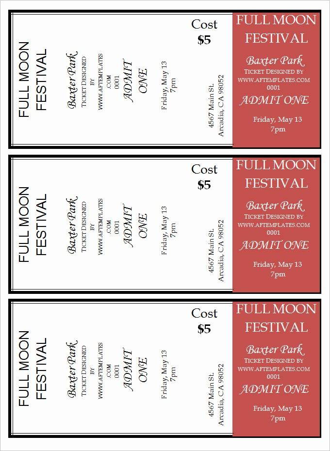Movie Ticket Template Free Printable Beautiful 16 Movie Ticket Templates Psd Ai Word