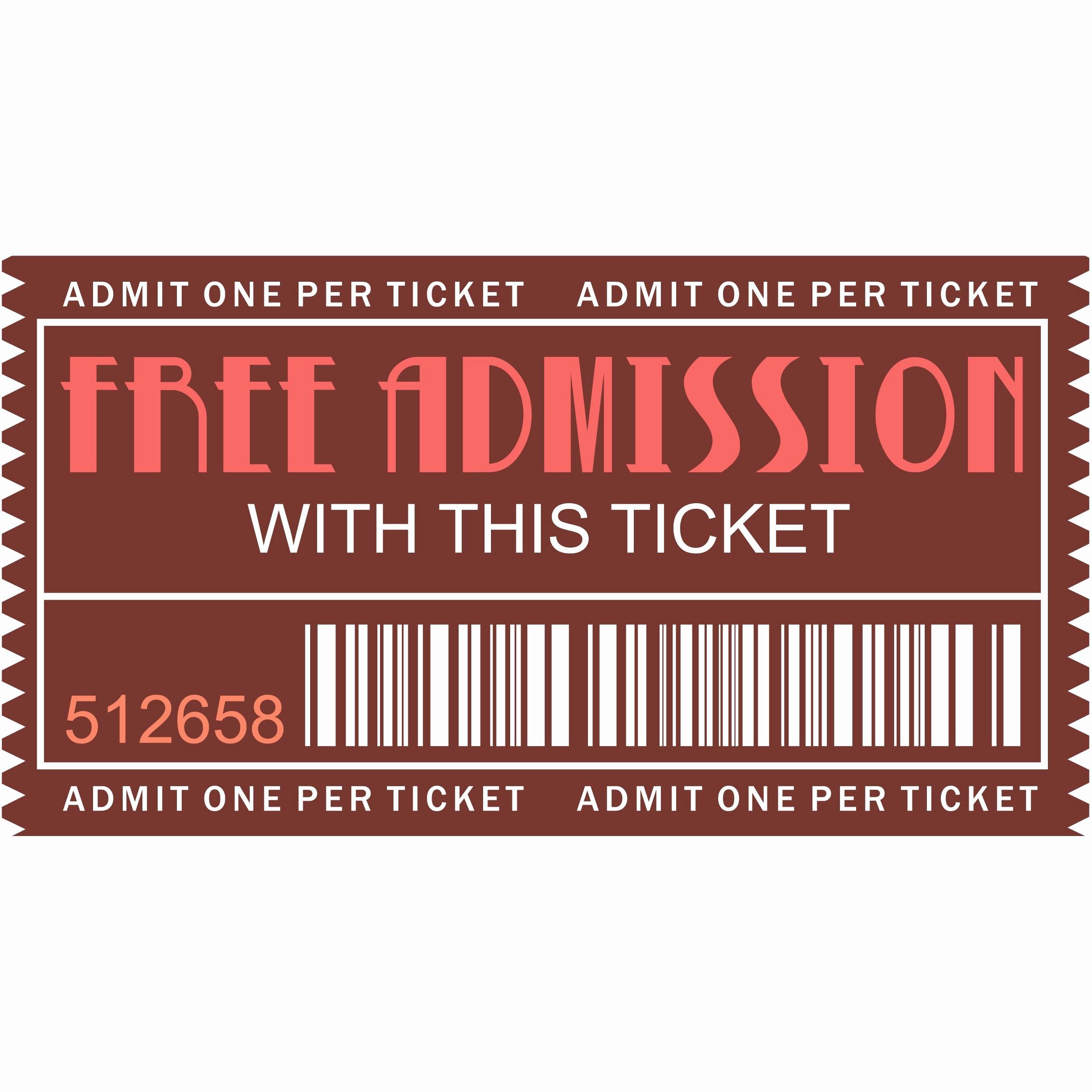 Movie Ticket Template Free Printable Best Of Free Printables – Movie Ticket