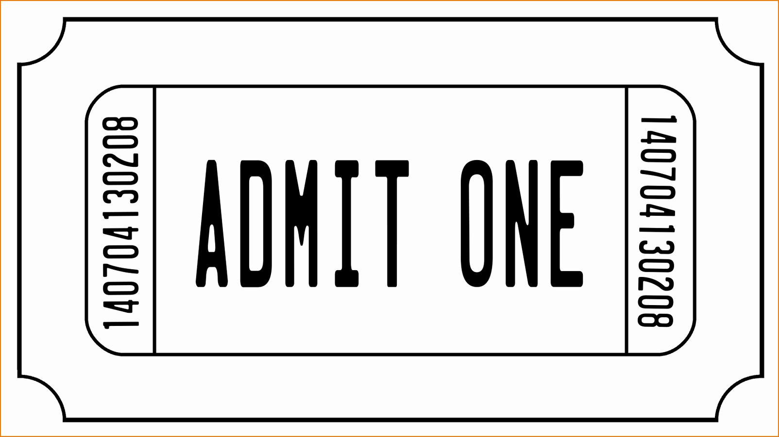 Movie Ticket Template Free Printable Elegant 6 Ticket Templates