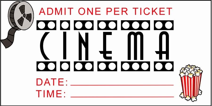 Movie Ticket Template Free Printable Elegant Admit E Movie Ticket Template Free Clipart