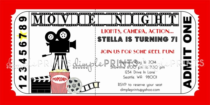 Movie Ticket Template Free Printable Elegant Movie Ticket Birthday Invitations Ideas – Bagvania Free