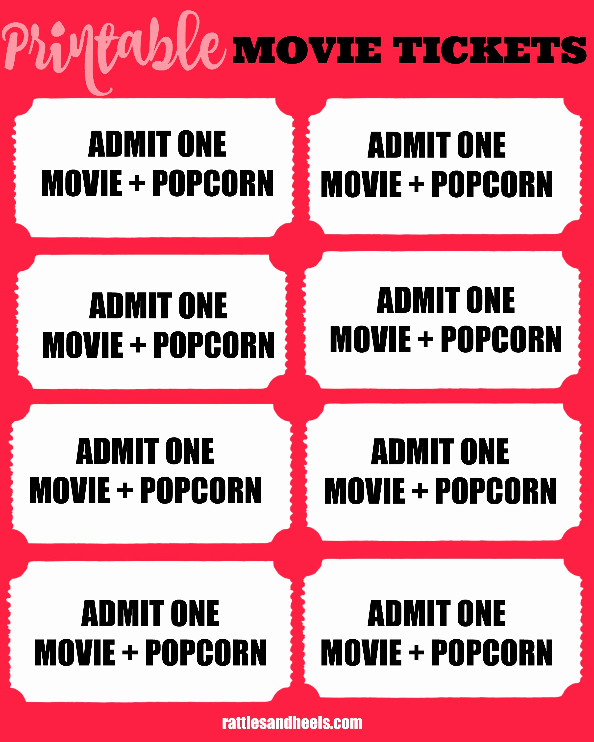Movie Ticket Template Free Printable Fresh Family Movie Night with Printable Movie Tickets Giveaway