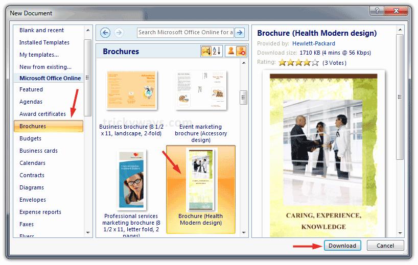 Ms Office Brochure Templates Free Best Of 10 Best S Of Microsoft Fice Brochure Templates