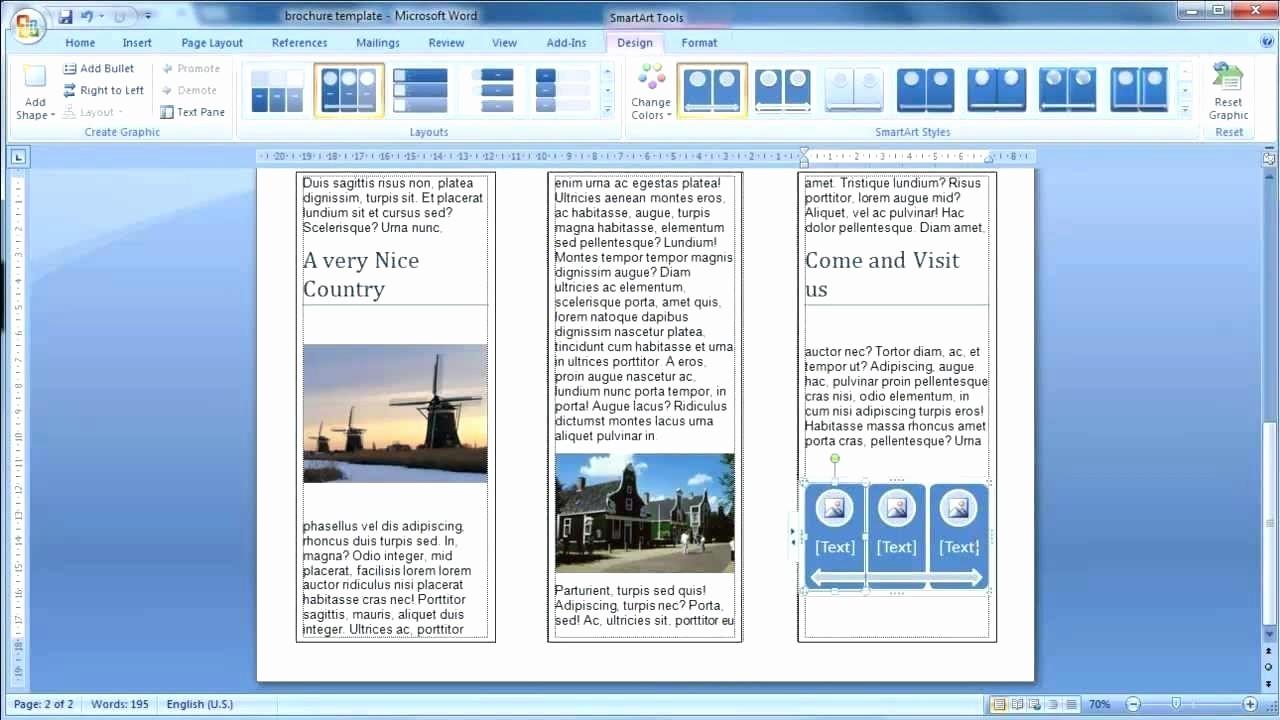 Ms Office Brochure Templates Free Elegant Template Brochure Template Word 2010