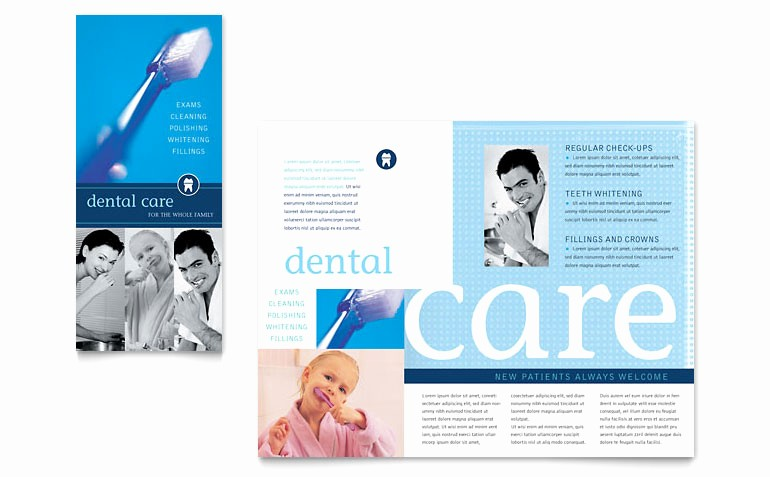 Ms Office Brochure Templates Free Inspirational Dentist Fice Brochure Template Word & Publisher