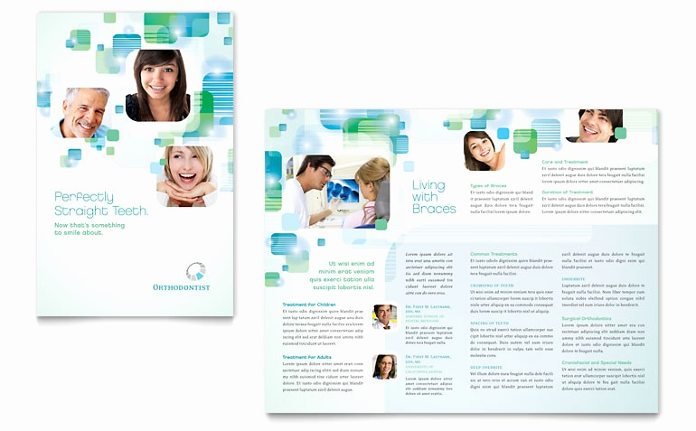 Ms Office Brochure Templates Free Luxury orthodontist Brochure Template Word & Publisher
