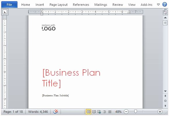 Ms Office Business Plan Template Fresh Business Plan Template for Microsoft Word