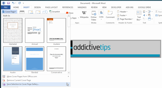 Ms Office Cover Page Template Awesome How to Create & Save Custom Cover Pages In Ms Word