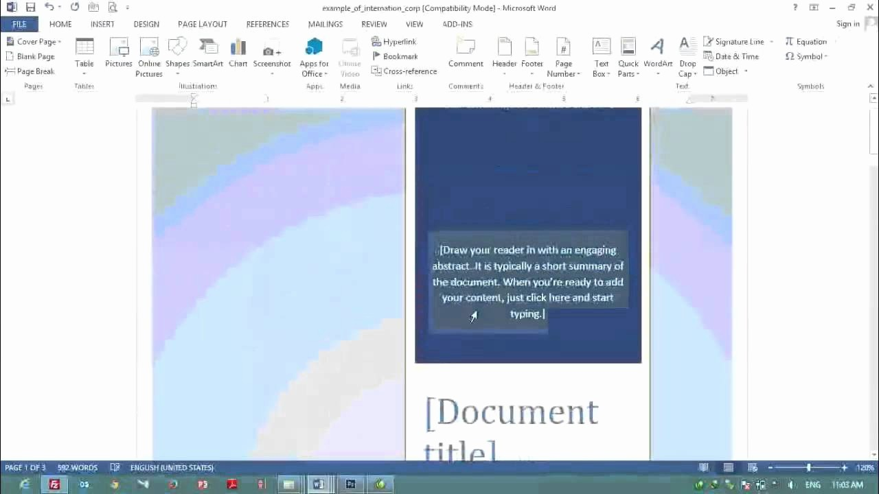 Ms Office Cover Page Template Awesome Ms Word 2016 Cover Page Templates Lezincdc