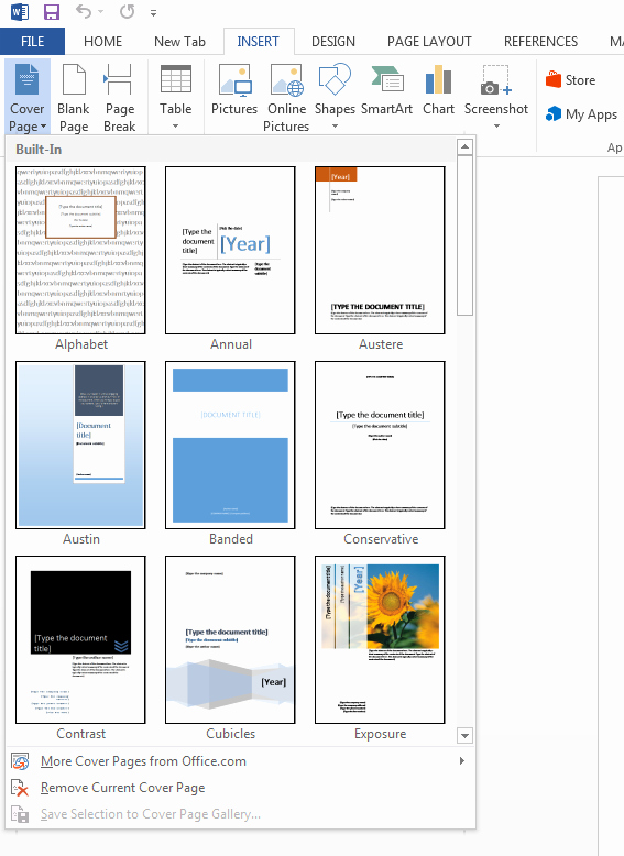 Ms Office Cover Page Template Awesome Puter Full Information How to Create A Cover Page In