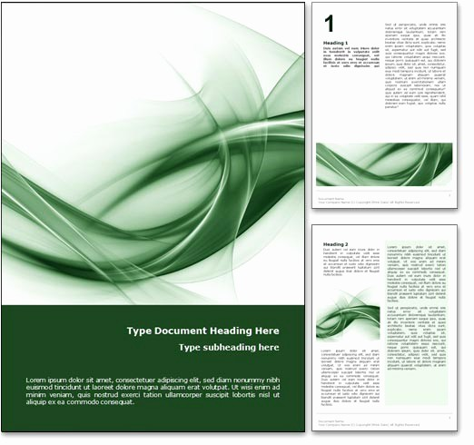 Ms Office Cover Page Template Inspirational Royalty Free Abstract Curves Microsoft Word Template In Green