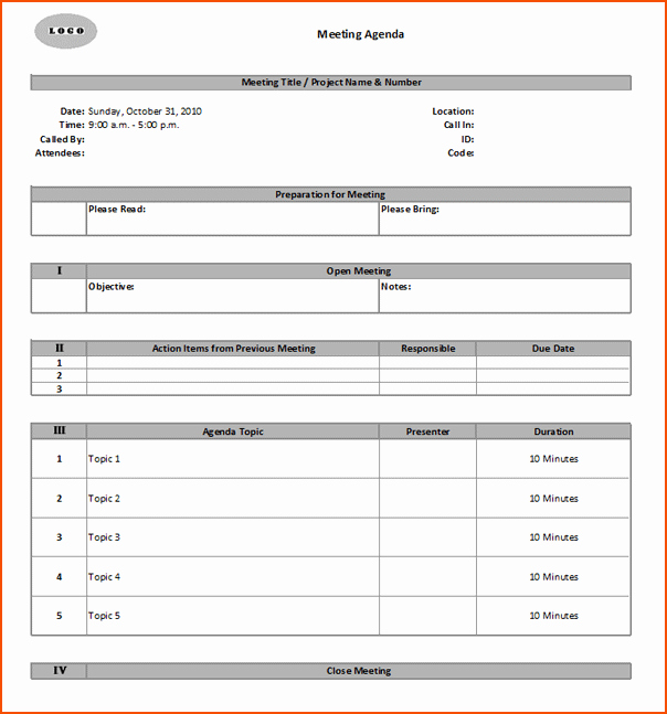 Ms Office Meeting Agenda Template Awesome 6 Meeting Minute Templates Bookletemplate