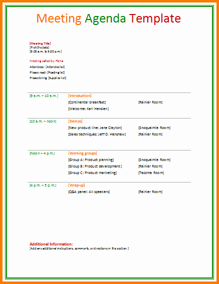 Ms Office Meeting Agenda Template Beautiful 10 formal Itinerary Template