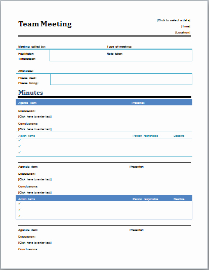 Ms Office Meeting Agenda Template Luxury Professional Meeting Minutes Template