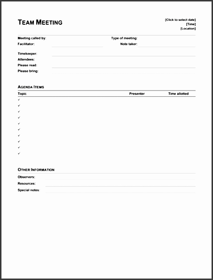 Ms Office Meeting Agenda Template New 10 formal Meeting Agenda Template Sampletemplatess
