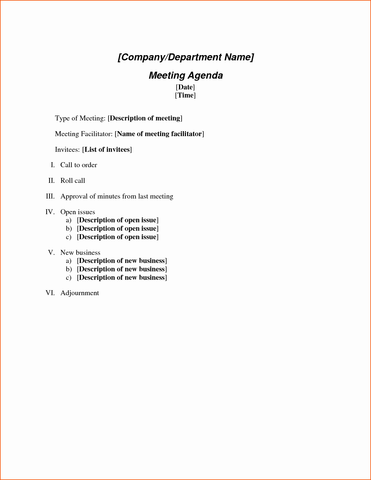 Ms Office Meeting Agenda Template New 6 Microsoft Agenda Template Bookletemplate