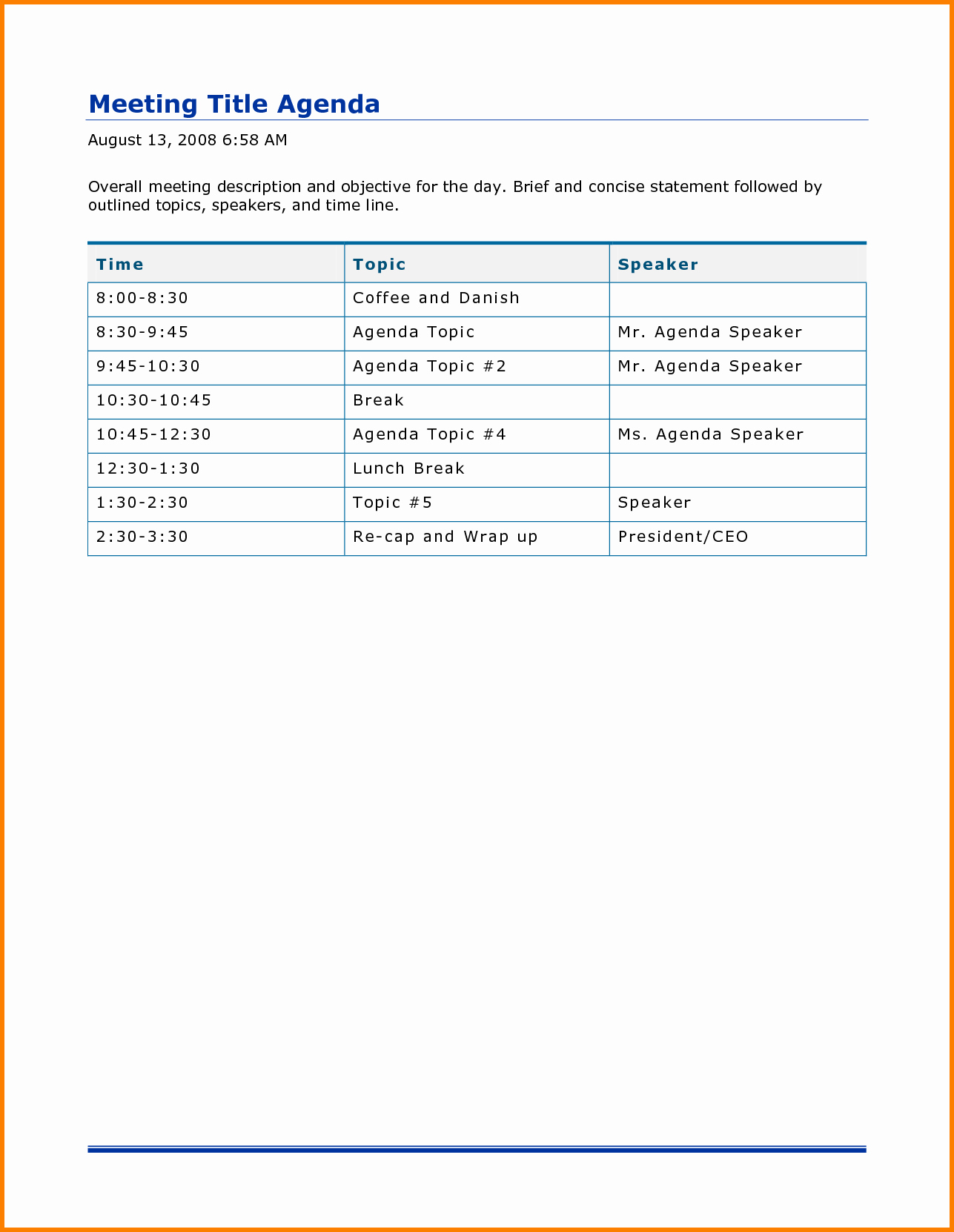 Ms Office Meeting Agenda Template Unique Meeting Agenda Word Template Bamboodownunder