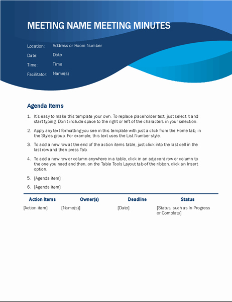 Ms Office Meeting Minutes Template Awesome Minutes Fice