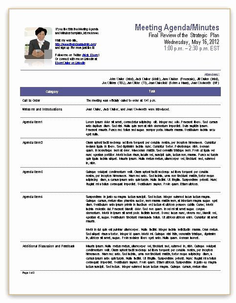 Ms Office Meeting Minutes Template Awesome Template for Meeting Minutes