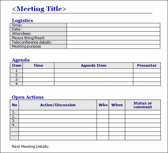 Ms Office Meeting Minutes Template Beautiful Meeting Minutes Templates Google Search