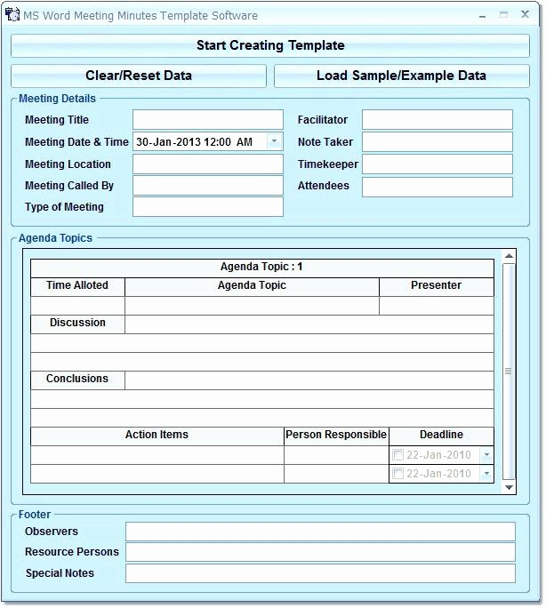 examples minutes of meeting template excel best and word free professional format