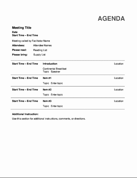 Ms Office Meeting Minutes Template Inspirational Pta Agenda Fice Templates