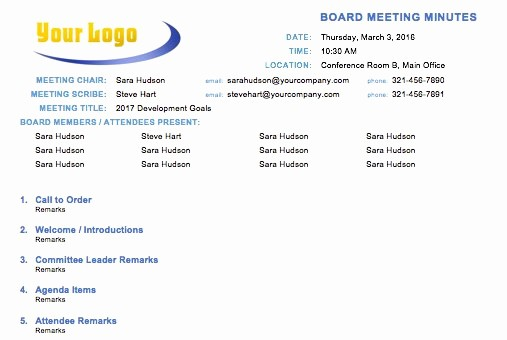 Ms Office Meeting Minutes Template Unique Free Meeting Minutes Template for Microsoft Word