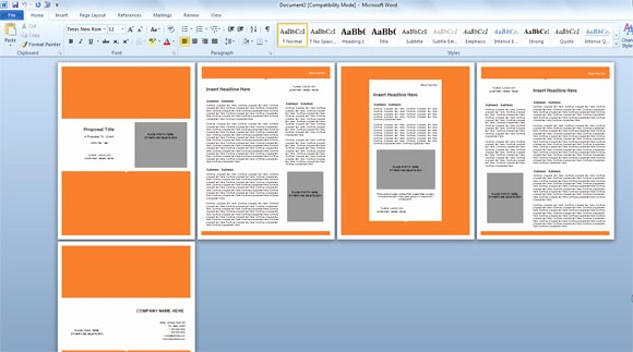 Ms Office Templates for Word Awesome Modern Proposal Template for Microsoft Word