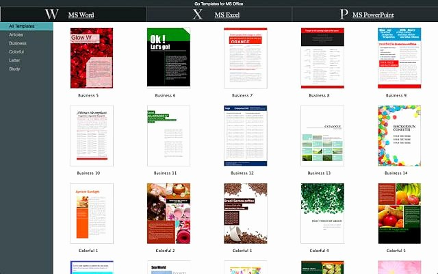 Ms Office Templates for Word Fresh New App Go Templates for Ms Fice iPhone Ipad iPod