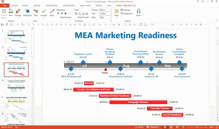 Ms Office Timeline Add On Fresh Editing A Gantt Chart In Powerpoint Using the Free Fice
