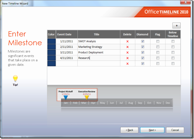 Ms Office Timeline Add On Inspirational Create Ms Powerpoint Time Lines Easily with Fice