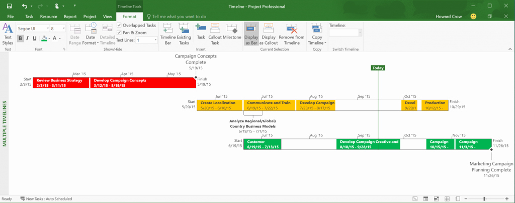 Ms Office Timeline Add On Luxury Microsoft Releases Project 2016 with New End to End