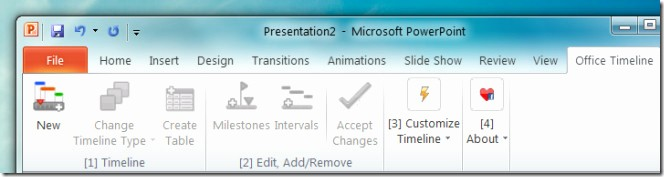 Ms Office Timeline Add On Unique Create Project Timelines In Powerpoint 2010 with Fice
