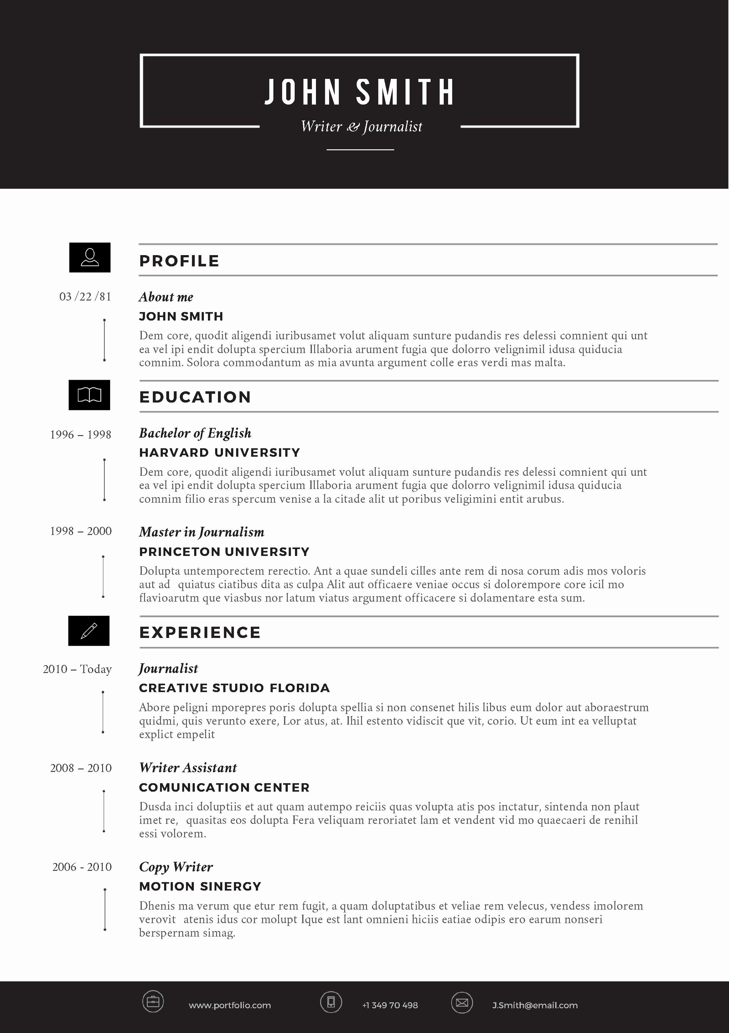 Ms Office Word Resume Templates Luxury Cvfolio Best 10 Resume Templates for Microsoft Word