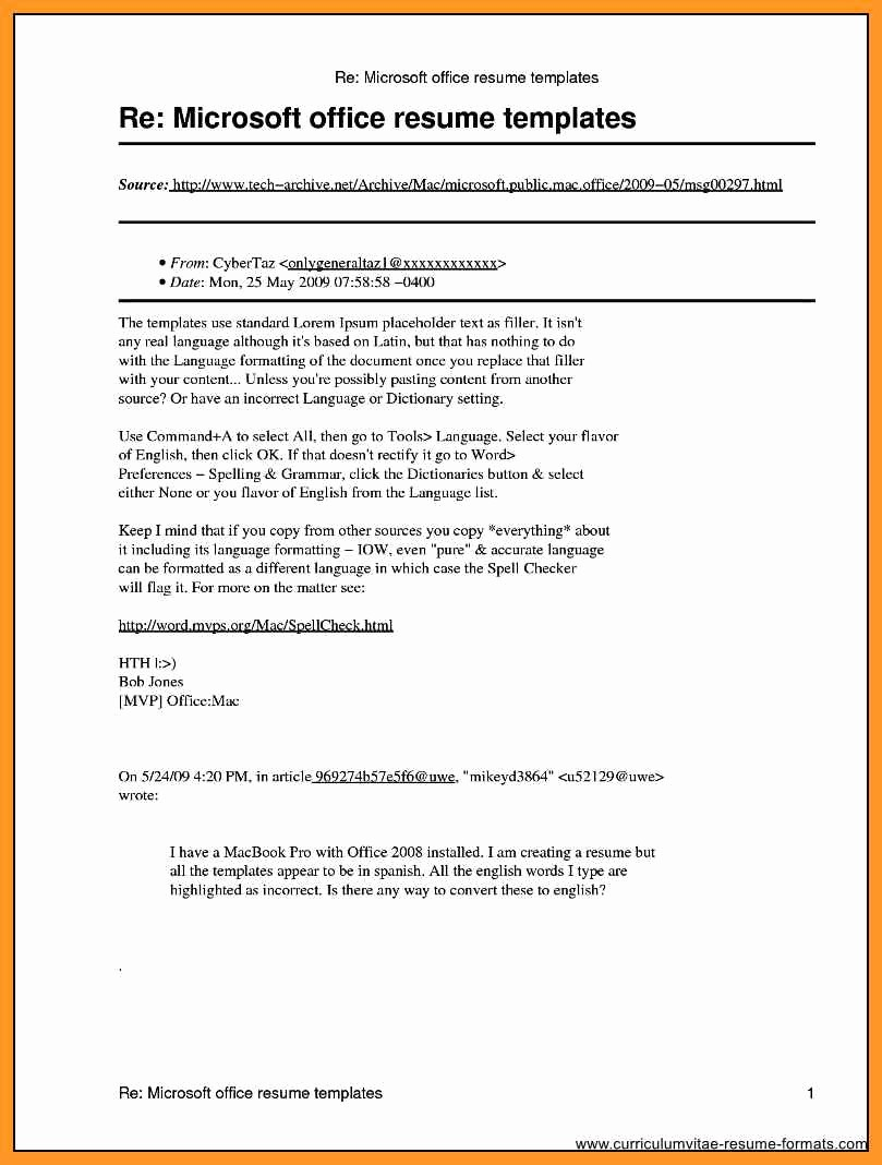 Ms Office Word Resume Templates New Microsoft Publisher Resume Templates