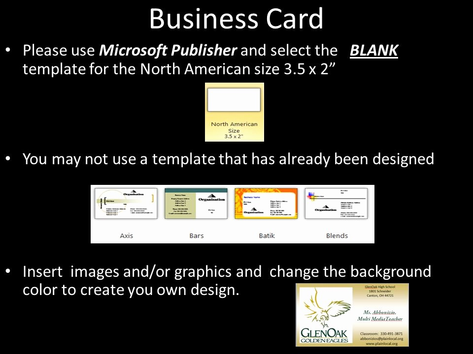 Ms Publisher Business Card Templates Awesome assignment 3 Business Stationery Ppt Video Online
