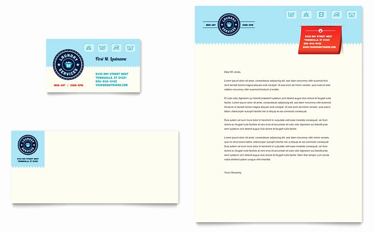 Ms Publisher Business Card Templates Fresh Laundry Services Business Card & Letterhead Template