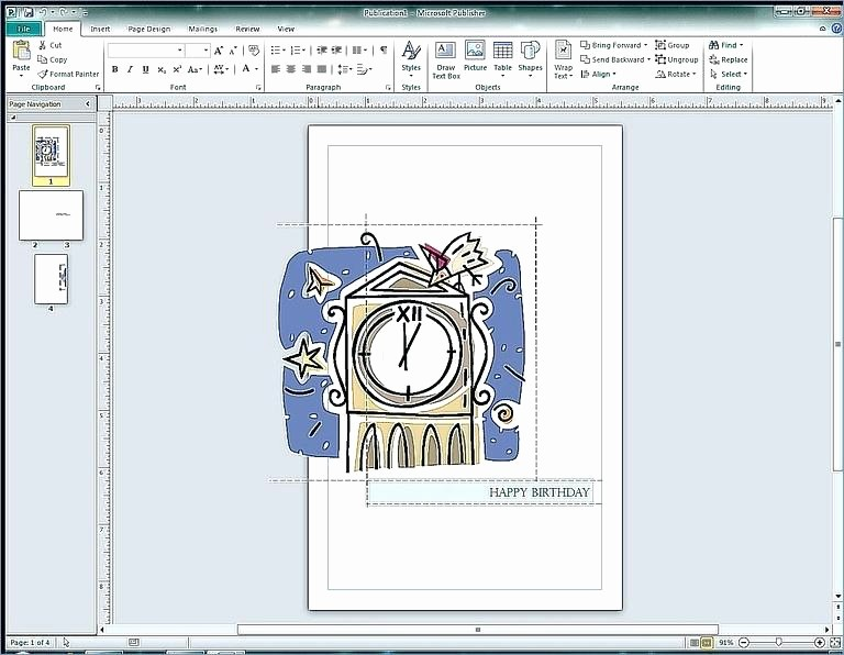 Ms Publisher Business Card Templates Unique Birthday Card Template Word 2010 Microsoft Greeting