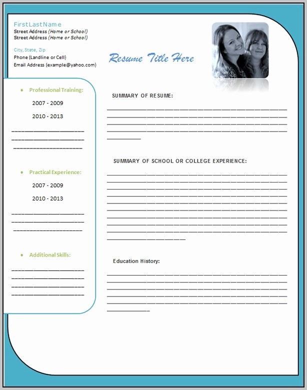 Ms Word 2007 Resume Templates Elegant Resume Template Free Download Microsoft Resume Resume