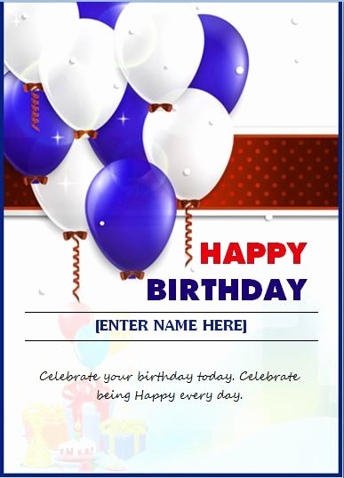 Ms Word Birthday Card Template Fresh 6 Best Of Birthday Card Templates for Word
